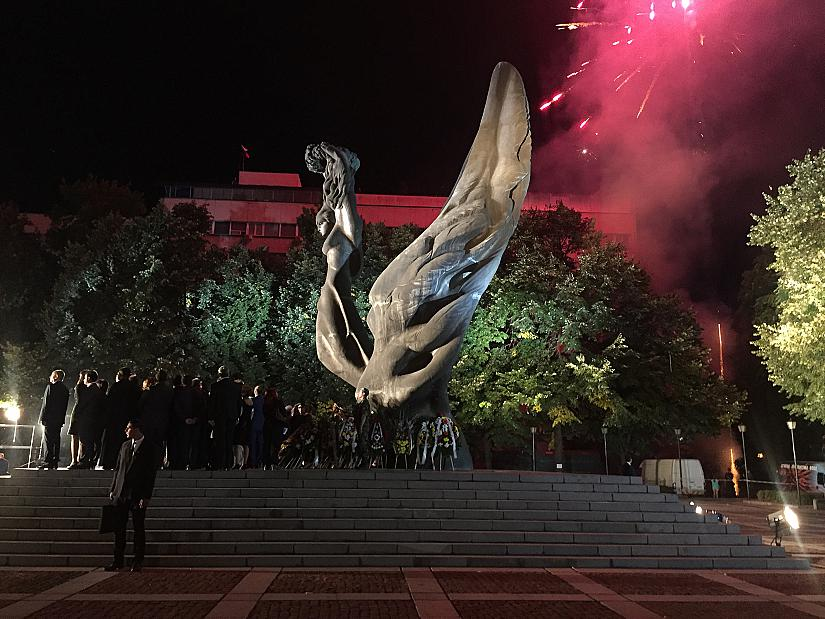 Празнична заря в Пловдив по повод 132-та годишнина от акта на Съединението на България.